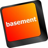 pic of basement  - basement message on enter key of keyboard - JPG