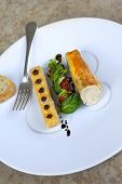 picture of coco  - Chicken fillet polenta and coco figs and salad - JPG