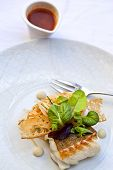 foto of cod  - Cod fillet toast and vegetable tomato sauce - JPG