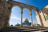 picture of aqsa  - Dome of the rock on the Temple Mount in Jerusalem - JPG