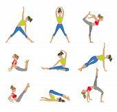 stock photo of yoga  - Vector yoga illustration - JPG