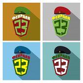 stock photo of defender  - Set icons for 23 February - JPG