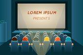 picture of watching movie  - People watching film in cinema - JPG