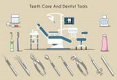 foto of toothpaste  - Teeth care and dentist tools - JPG