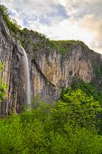 picture of waterfalls  - Skaklya is the highest waterfall on Balkan Peninsula - 141 meters. Skaklya is intermittent flowing waterfall - only during snow melt in spring and rains. Located nearly the town of Vratsa Bulgaria. ** Note: Soft Focus at 100%, best at smaller sizes - JPG