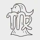 pic of virgo  - Virgo Constellation Doodle - JPG