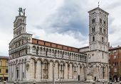 image of michel  - San Michele in Foro is a Roman Catholic basilica church in LuccaItaly - JPG