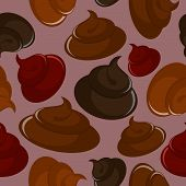 picture of excrement  - Shit seamless pattern - JPG