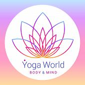 stock photo of yoga  - Colorful five - JPG