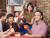 Постер, плакат: Waitress Pouring Coffee