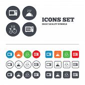 pic of fruit platter  - Microwave grill oven icons - JPG