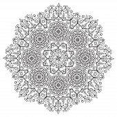 stock photo of rangoli  - Hand drawing zentangle element - JPG