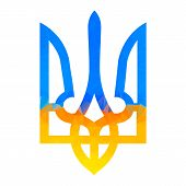 Постер, плакат: Ukranian Trident Traditional Illustration