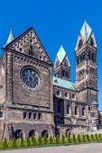 foto of turret arch  - Saint Hyacinth parish church in Bytom built in the years 1908 - JPG