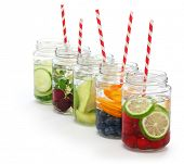 stock photo of body fat  - detox water on white background - JPG