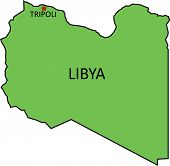 picture of political map  - Illustration of a detailed political map of Libya - JPG