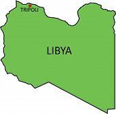 pic of libya  - Illustration of a detailed political map of Libya - JPG