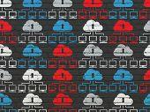 stock photo of wall cloud  - Cloud computing concept - JPG