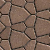 picture of paving  - Brown Paving Slabs in the Form Polygons of Different Value - JPG
