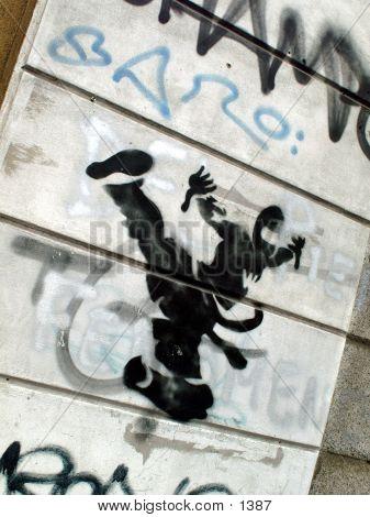 Ninja Graffiti poster
