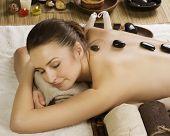 Spa Woman.Stone massage.Dayspa poster