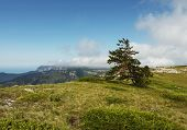 picture of mountain-climber  - Crimean mountain in summer season - JPG