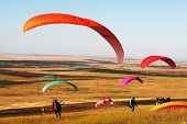 stock photo of hang-gliding  - Paragliders - JPG