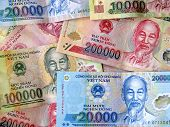 picture of dong  - Vietnamese dong banknotes  - JPG