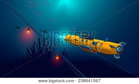 Autonomous Underwater Drone Or Robot