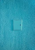 Background Texture Wall Plaster Barbed Not Level Blue Putty Exterior Painting Shield Electricity Ver poster