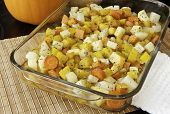 pic of rutabaga  - Colorful blend of roasted potatoes yams carrots yellow beets parsnips and rutabaga - JPG