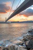 pic of tsing ma bridge  - bridge at sunset moment Tsing ma bridge - JPG