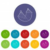 Hammock Icon. Isometric 3d Illustration Of Hammock Vector Icon For Web poster