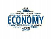 Economy - Image With Words Associated With The Topic Automotive Industry, Word, Image, Illustration poster