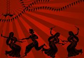 Постер, плакат: Тень искусства graba танцовщица в солнце набор