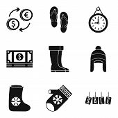 Commercial Area Icons Set. Simple Set Of 9 Commercial Area Vector Icons For Web Isolated On White Ba poster