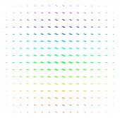 Wave Shape Icon Spectral Halftone Pattern. Vector Wave Shape Shapes Arranged Into Halftone Grid With poster