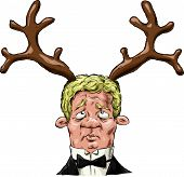 foto of cuckold  - A man with antlers on his head vector - JPG
