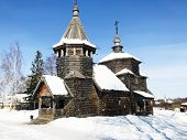 Old Wooden Church Of The Resurrection Of Christ From Patakino Village In Suzdal Town In Winter In Vl poster