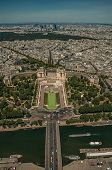 Seine River, Greenery And Trocadero In A Sunny Day, Seen From The Eiffel Tower Top In Paris. Known A poster
