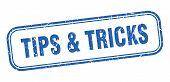 Tips And Tricks Stamp. Tips Tricks Square Grunge Sign poster