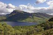 Cliffs Of Coille Na Dubh Chlaise, Loch Maree poster
