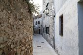 The Narrow Streets Of A Small Croatian Town poster