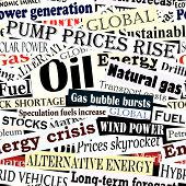 image of current affairs  - Editable vector seamless tile of energy headlines - JPG