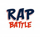 Rap Battle Vector Typing, Music Theme Logo. poster