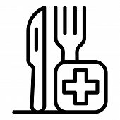 Medical Food Instrument Icon. Outline Medical Food Instrument Vector Icon For Web Design Isolated On poster