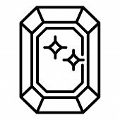 Value Shine Gemstone Icon. Outline Value Shine Gemstone Vector Icon For Web Design Isolated On White poster