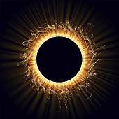 Power Energy. Futuristic Flash. Radiation. Solar Wind, Eclipse. Flash. Energy Flow. Plasma. Glow Eff poster