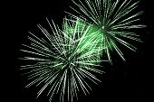 Luxury Fireworks Event Sky Show With Green Big Bang Stars. Premium Entertainment Magic Star Firework poster