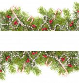 picture of candy cane border  - Christmas border with candy canes on a white background - JPG